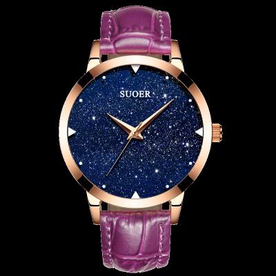 Dámy hodinky vodotěsné módní modely trend quartz hodinky kožené pásu korejské studenty jednoduché příležitostné ženské tabulky