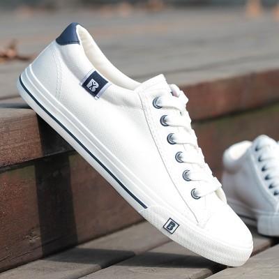 Ploché jaro a letní plátno boty mužů a žen nízké pomáhat páry modely korejské běžné boty boty muži s botami