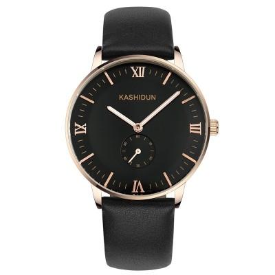 Automatické mechanické Pánská kůže s vodotěsné světelný Business Pánské hodinky pás hodinky