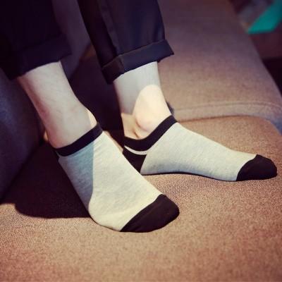 Menns sokker sokker for sommeren slanke, lave båtsokker, svette deodorant grunne munnkontakt, korte rør sportsokker