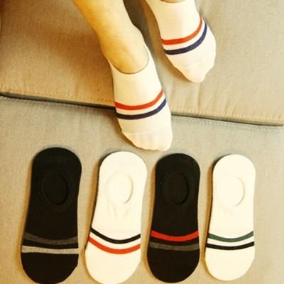 Mannlige sokker sokker skip rene bomullssokker usynlig grunne munn tynn sommer sommersport hjelp lav silisium gel deodorant