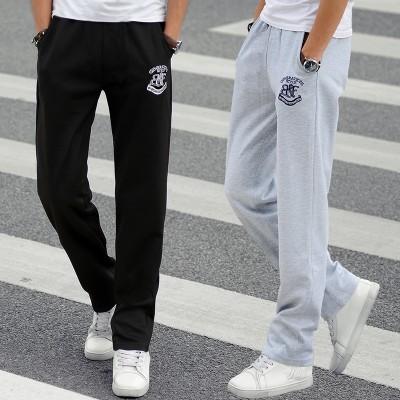 Sommer sportsbukser menn tynne lange bukser løs rett trend Korea menns uformelle bukser. Studenter som