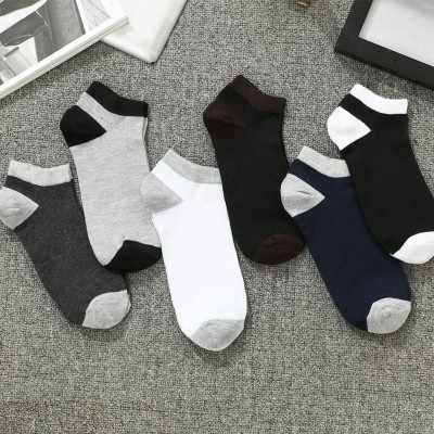 Menns sokker sokker om våren og sommeren, tynne sokker med lave båter sokker svette deodorant grunne munnkontakt korte rør sportsokker
