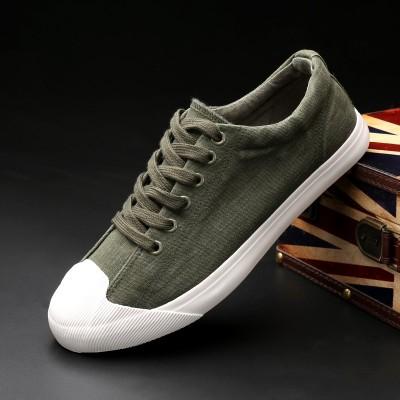 new low flat tie seasons wear solid men's canvas shoes leisure shoes shoes shoes